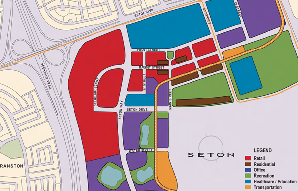 Map of Seton Neighbourhood across from Auburn Bay